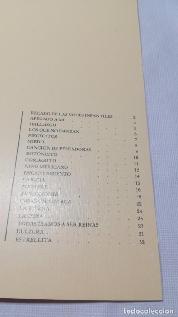 Libros de segunda mano: EL NIÑO EN LA POESÍA DE GABRIELA MISTRAL / FONDO NACIONES UNIDAS PARA LA INFANCIA/ / / D - Foto 7 - 157976086
