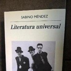 Libros de segunda mano: LITERATURA UNIVERSAL. SABINO MENDEZ. ANAGRAMA NARRATIVAS HISPANICAS 2017 PRIMERA EDICION. . Lote 158019366