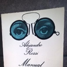 Libros de segunda mano: MANUAL DEL DISTRAIDO. ALEJANDRO ROSSI. ANAGRAMA 1980. SERIE INFORMAL 32.. Lote 158119598