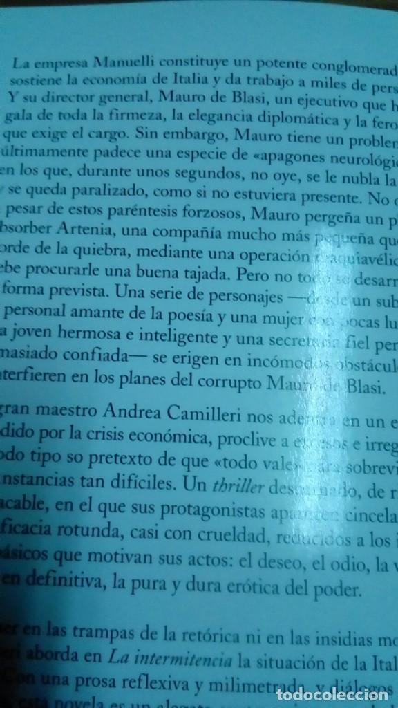 Libros de segunda mano: La intermitencia, Andrea Camilleri - Foto 2 - 158623578