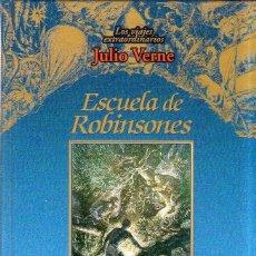 Libros de segunda mano: ESCUELA DE ROBINSONES. LOS VIAJES EXTRAORDINARIOS JULIO VERNE. EDICIONES RUEDA. 2000.. Lote 202530207