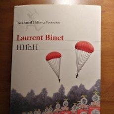 Libros de segunda mano: HHHH - LAURENT BINET - SEIX BARRAL 2011. Lote 160058625