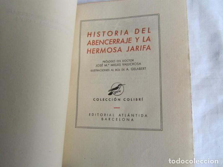 Libros de segunda mano: Historia del Abencerraje y la hermosa Jirafa. Colección Colibrí 1941 - Foto 6 - 160356750
