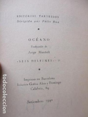 Libros de segunda mano: Vittorio G. Rossi, Oceano, 1942 - Foto 8 - 213445701