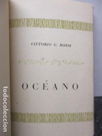 Libros de segunda mano: Vittorio G. Rossi, Oceano, 1942 - Foto 9 - 213445701