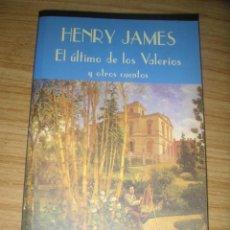 Libros de segunda mano: EL ÚLTIMO DE LOS VALERIOS Y OTROS CUENTOS (HENRY JAMES) VALDEMAR CLUB DIÓGENES Nº 76 - 1ª EDICIÓN . Lote 161854074
