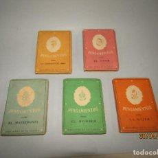 Libros de segunda mano: ANTIGUO LOTE DE 5 LIBRITOS PENSAMIENTOS DE EDICIONES LA GACELA - AÑO 1945. Lote 162754330