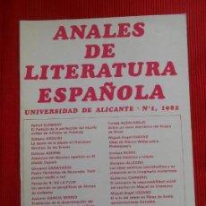 Gebrauchte Bücher - ANALES DE LITERATURA ESPAÑOLA - 163020450