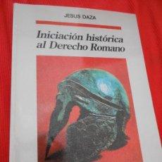 Livros em segunda mão: INICIACION HISTORICA AL DERECHO ROMANO. Lote 163342166