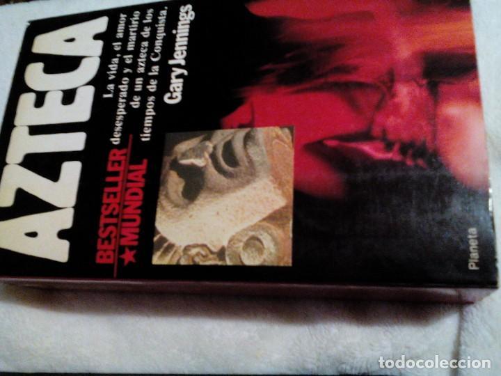 RX__LIBRO,AZTECA MIDE APROXIMADAMENTE 21X13 CM,TIENE 865 PAGINAS,TIENE LAS PAGINAS AMARILLAS (Libros de Segunda Mano (posteriores a 1936) - Literatura - Narrativa - Otros)