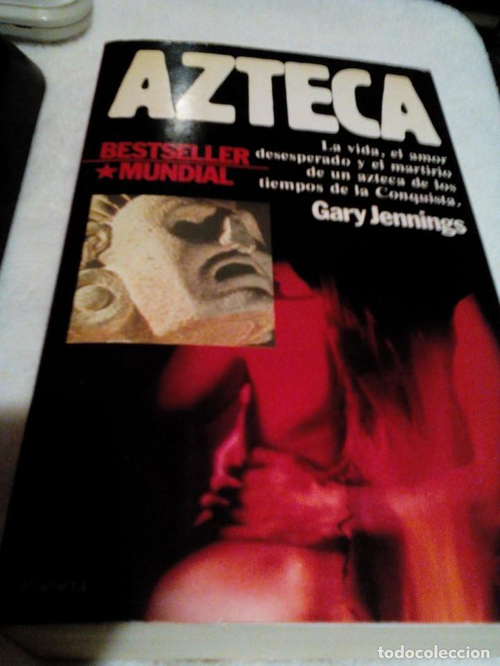 Libros de segunda mano: RX__libro,AZTECA mide aproximadamente 21x13 cm,tiene 865 paginas,TIENE LAS PAGINAS AMARILLAS - Foto 3 - 163417222
