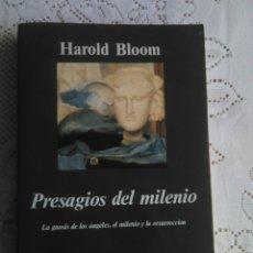 Libros de segunda mano: PRESAGIOS DEL MILENIO. HAROLD BLOOM. Lote 163483550