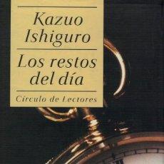 Libros de segunda mano: KAZUO ISHIGURO, LOS RESTOS DEL DÍA. Lote 163870130