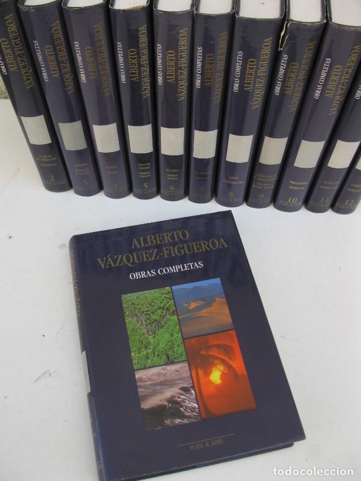 Libros de segunda mano: OBRAS COMPLETAS - ALBERTO VÁZQUEZ-FIGUEROA - 12 LIBROS - OBRA COMPLETA - PLAZA & JANÉS - AÑO 1989. - Foto 2 - 165502334