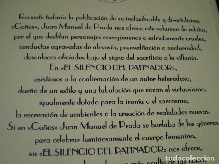 Libros de segunda mano: EL SILENCIO DEL PATINADOR. JUAN MANUEL DE PRADA. EL CLUB DIÓGENES. VALDEMAR. NUEVO - Foto 5 - 165741162
