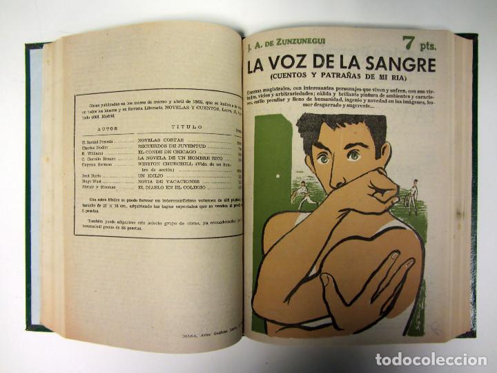 Libros de segunda mano: Revista literaria Novelas y Cuentos. 454 números en 46 tomos. de 1950 a 1965. Encuadernación de lujo - Foto 6 - 166112058