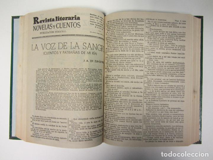 Libros de segunda mano: Revista literaria Novelas y Cuentos. 454 números en 46 tomos. de 1950 a 1965. Encuadernación de lujo - Foto 7 - 166112058