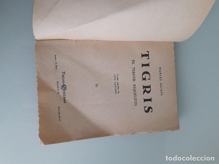 Libros de segunda mano: TIGRIS Nº 16 - MARCEL ALLAIN - EL TERCER ESQUELETO - Prensa Moderna - Madrid - Foto 3 - 166391082