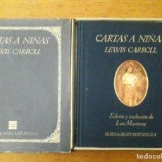 Libros de segunda mano: CARTAS A NIÑAS / LEWIS CARROLL / EDI. PLAZA&JANES / 1ª EDICIÓN 1987 / CON SU CAJA . Lote 166489374