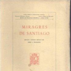 Libros de segunda mano: MIRAGRES DE SANTIAGO (JOSÉ L. PENSADO 1958) SIN USAR. Lote 167879864