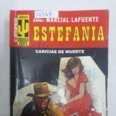 Libros de segunda mano: 20765 - NOVELAS DEL OESTE - ESTEFANIA - COLECCION BRONCO OESTE - CARICIAS DE MUERTE - Nº 408. Lote 168033280