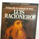 Libros de segunda mano: BJS.EL DESARROLLO DE LEONARDO DA VINCI.LUIS RACIONERO.EDT, PLAZA Y JANES.BRUMART TU LIBRERIA.. Lote 168184208