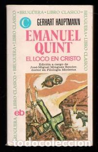 EL LOCO EN CRISTO, GERHART HAPTMANN (Libros de Segunda Mano (posteriores a 1936) - Literatura - Narrativa - Otros)