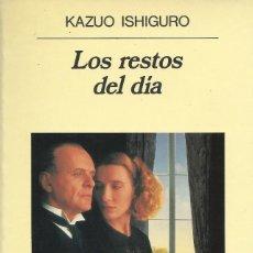 Libros de segunda mano: LOS RESTOS DEL DÍA, KAZUO ISHIGURO. Lote 168505716