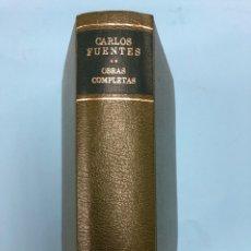 Libros de segunda mano: CARLOS FUENTES - OBRAS COMPLETAS II - VOLUMEN 2 - AGUILAR PIEL 1ª EDICION 1985 PERFECTO ESTADO. Lote 168627880