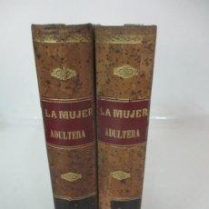 Libros de segunda mano: LA MUJER ADULTERA - ENRIQUE PEREZ ESTRICH - ED MIGUEL GUIJARRO - TOMO I,II COMPLETA -ILUSTRADA -1880. Lote 168996500