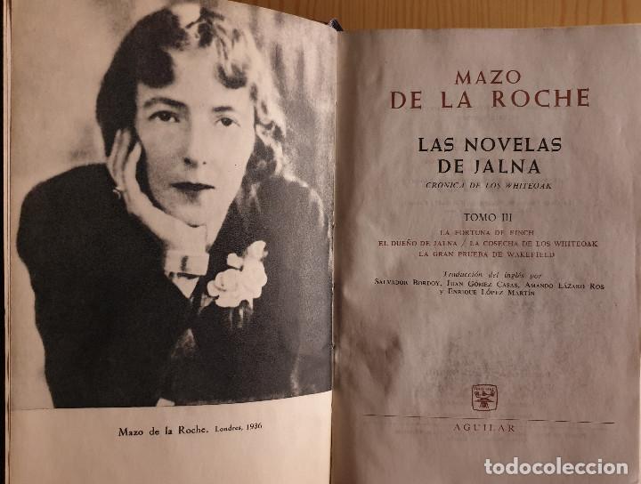 MAZO DE LA ROCHE: LAS NOVELAS DE JALNA (TOMO III) - AGUILAR, 1ª ED., 1961 - VER TÍTULOS EN FOTOS (Libros de Segunda Mano (posteriores a 1936) - Literatura - Narrativa - Otros)