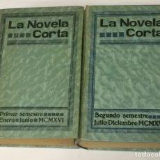 Libros de segunda mano: LA NOVELA CORTA. PRIMER Y SEGUNDO SEMESTRE. AÑO 1916. 52 NÚMEROS.. Lote 170449388