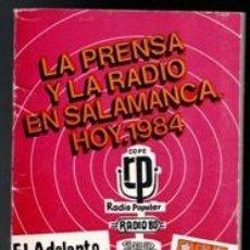 Libros de segunda mano: LA PRENSA Y LA RADIO EN SALAMANCA, HOY, 1984. Lote 170472897