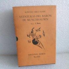 Libros de segunda mano: AVENTURAS DEL BARON DE MUNCHHAUSEN RODOLFO ERICO RASPE EDIT MARTE AÑO 1967. Lote 170651070