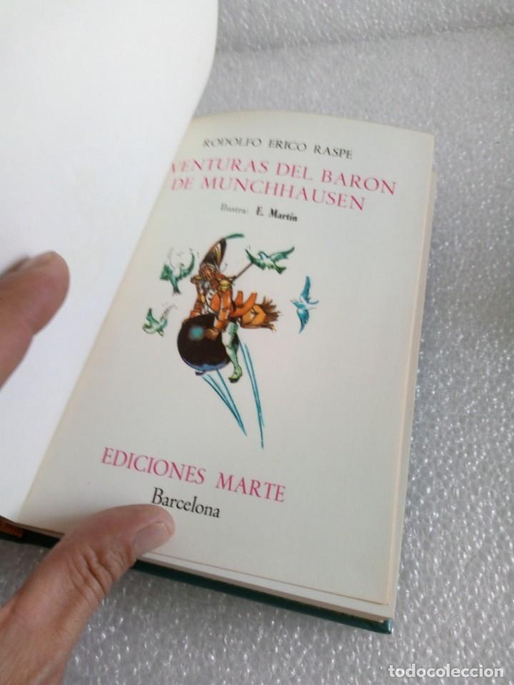 Libros de segunda mano: AVENTURAS DEL BARON DE MUNCHHAUSEN RODOLFO ERICO RASPE EDIT MARTE AÑO 1967 - Foto 5 - 170651070