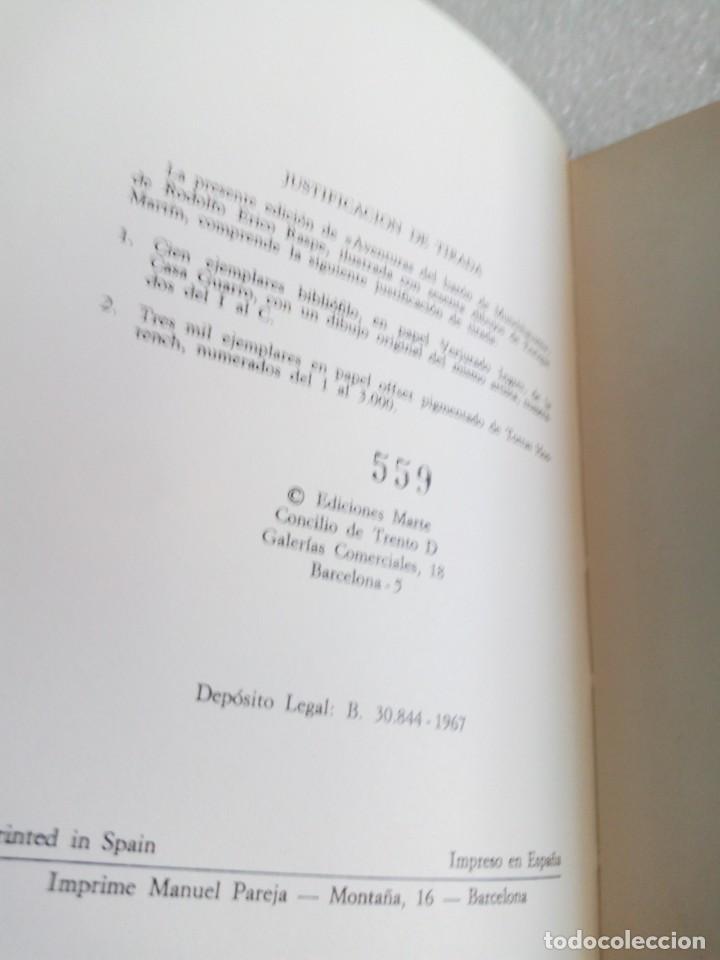 Libros de segunda mano: AVENTURAS DEL BARON DE MUNCHHAUSEN RODOLFO ERICO RASPE EDIT MARTE AÑO 1967 - Foto 6 - 170651070