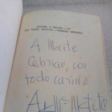 Libros de segunda mano: FIRMADO Y DEDICADO - FIRMA Y DEDICATORIA DE LA AUTORA: ANA MARIA MATUTE PRIMERA MEMORIA. Lote 170913960