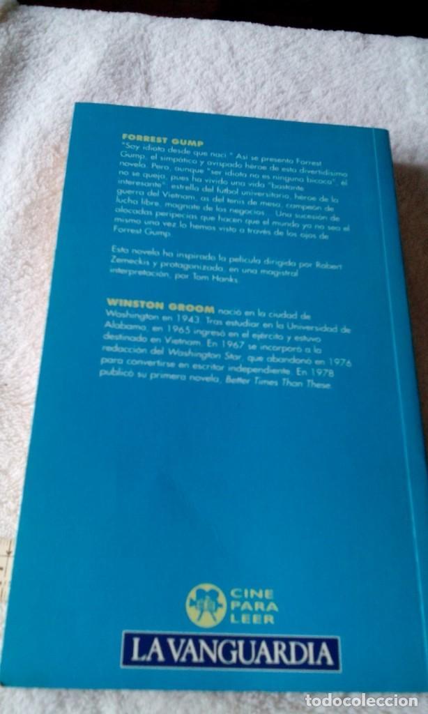 Libros de segunda mano: RXX___libro /FORREST GUMP/WINSTON GROOM/mide aprox13x21cm,Tiene 254 paginas - Foto 2 - 170964707