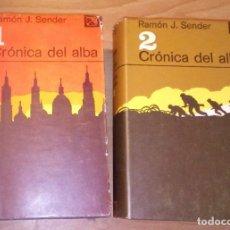 Libros de segunda mano: RAMÓN J. SENDER . CRÓNICA DEL ALBA - DESTINO, 1977-1980 [DOS TOMOS, OBRA COMPLETA]. Lote 170890030