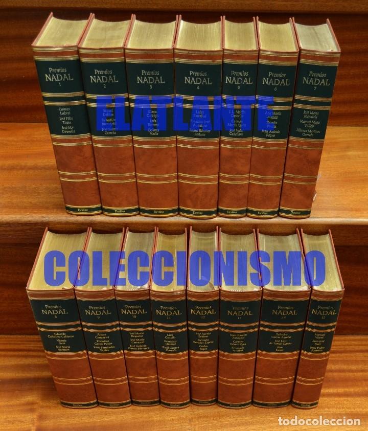 Libros de segunda mano: PREMIOS NADAL EDICIÓN DE LUJO SERIE COMPLETA 15 TOMOS - EXCELENTE ESTADO - LAFORET DELIBES FERLOSIO - Foto 3 - 171318218