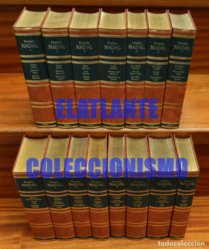 Libros de segunda mano: PREMIOS NADAL EDICIÓN DE LUJO SERIE COMPLETA 15 TOMOS - EXCELENTE ESTADO - LAFORET DELIBES FERLOSIO - Foto 4 - 171318218