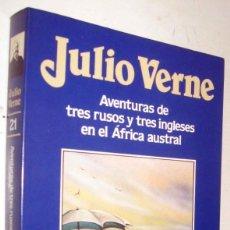 Libros de segunda mano: AVENTURAS DE TRES RUSOS Y TRES INGLESES EN EL AFRICA AUSTRAL - JULIO VERNE - ILUSTRACIONES. Lote 171433004