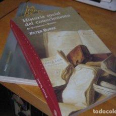 Libros de segunda mano: HISTORIA SOCIAL DEL CONOCIMIENTO - BURKE, PETER DE GUTENBERG A DISERTO. Lote 171523277
