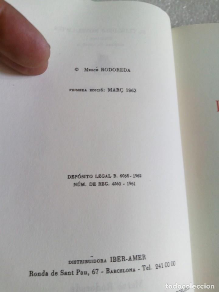 Libros de segunda mano: MERCÈ RODOREDA: LA PLAÇA DEL DIAMANT (CLUB EDITOR/ EDS. 62) FACSÍMIL DE LA PRIMERA EDICIÓ DEL 1962 - Foto 6 - 171661559