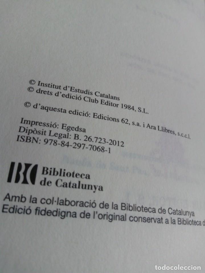 Libros de segunda mano: MERCÈ RODOREDA: LA PLAÇA DEL DIAMANT (CLUB EDITOR/ EDS. 62) FACSÍMIL DE LA PRIMERA EDICIÓ DEL 1962 - Foto 8 - 171661559