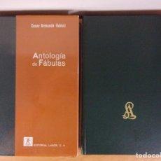 Libros de segunda mano: ANTOLOGÍA DE FABULAS CESAR / CESAR ARMANDO GÓMEZ / 1969. LABOR / DOS TOMOS. Lote 171664072