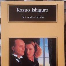 Libros de segunda mano: KAZUO ISHIGURO . LOS RESTOS DEL DÍA . ANAGRAMA. Lote 172030494