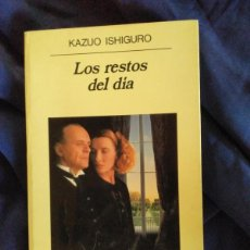 Libros de segunda mano: LOS RESTOS DEL DÍA - KAZUO ISHIGURO - ANAGRAMA 1994. Lote 173888673