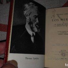 Libros de segunda mano: 183-LOS HEROES, THOMAS CARLYLE, CRISOL 183 . Lote 173940409