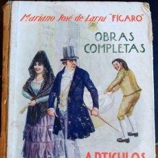 Libros de segunda mano: OBRAS COMPLETAS. TOMO II: ARTICULOS Y POESIAS. - LARRA FIGARO, MARIANO JOSE DE.. Lote 173706488
